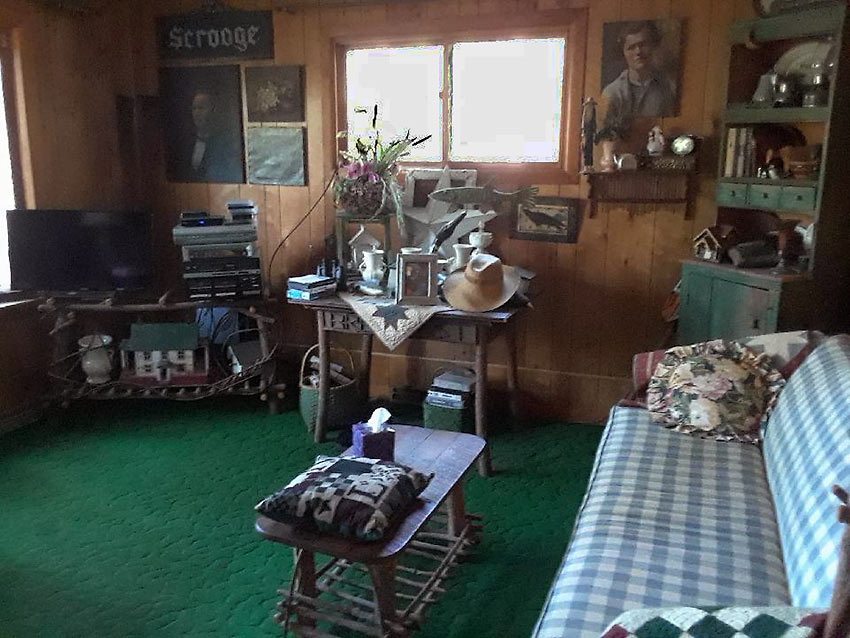inside a house at Manitowish Waters, Wisconsin