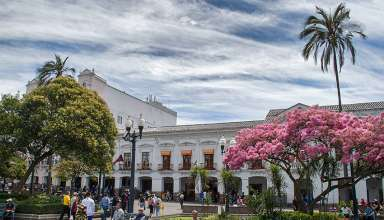 Plaza Grande or Independence Square at the heart of Quito