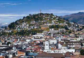 overview of Quito, Ecuador