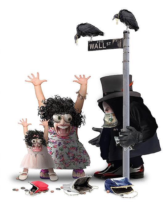 Wall Street Banksters, by Nancy Ohanian
