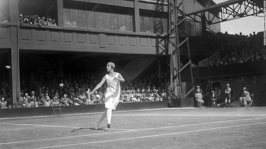 Spanish player Lili de Alvarez at Wimbledon, 1928