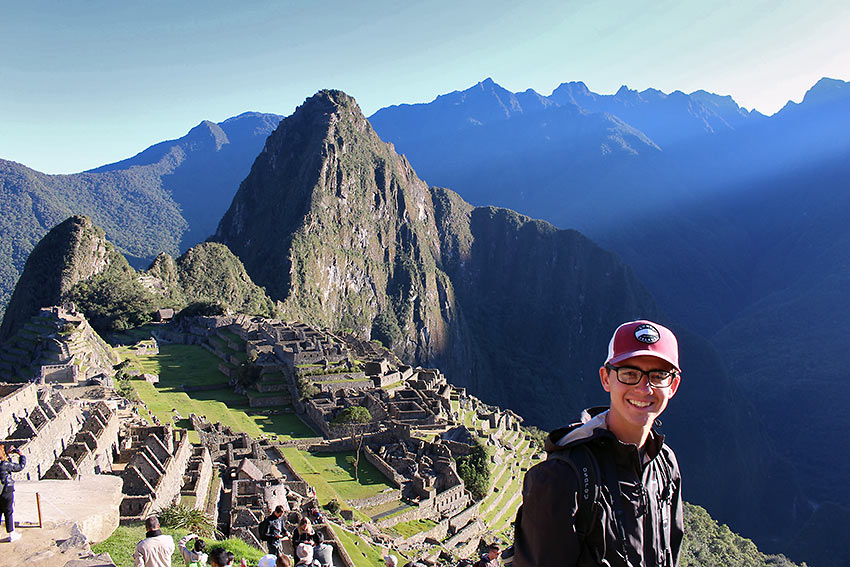 the author at Machu Picchu