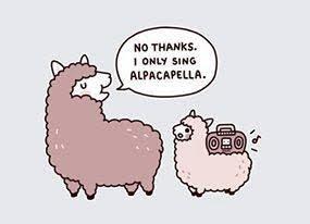 Don's Puns: Alpacapella