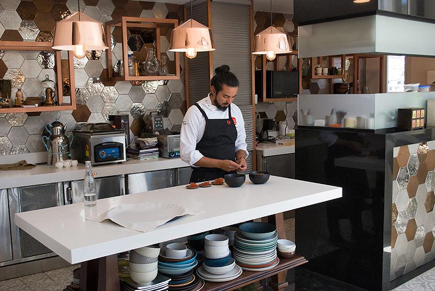 Chef Alejandro Chamorro at Nuema Restaurant, Illa Experience Hotel, Quito