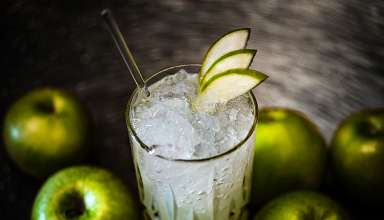 cocktail with apples, Park Hyatt Hotel Hamburg