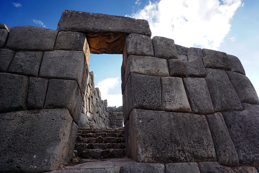 Sacsayhuamán - a citadel on the northern outskirts of the city of Cusco, Peru