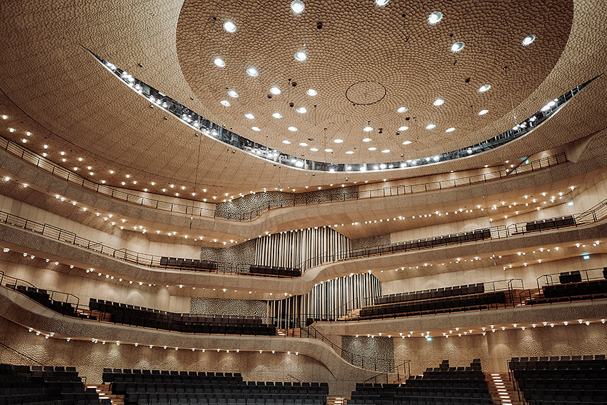 interior of the Elbphilharmonie, Hamburg