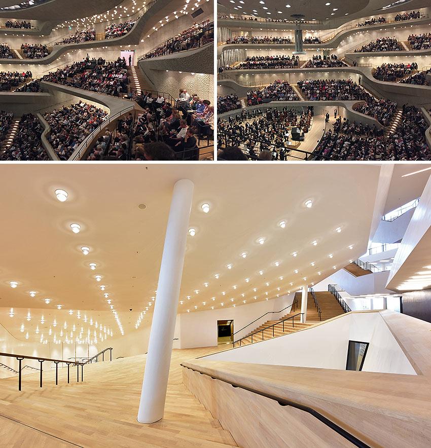 Elphi main concert hall and grand hall