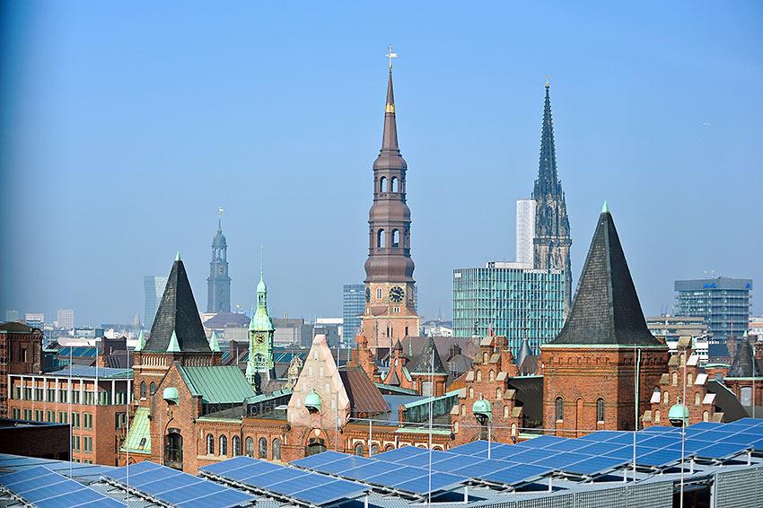 Hamburg rooftops