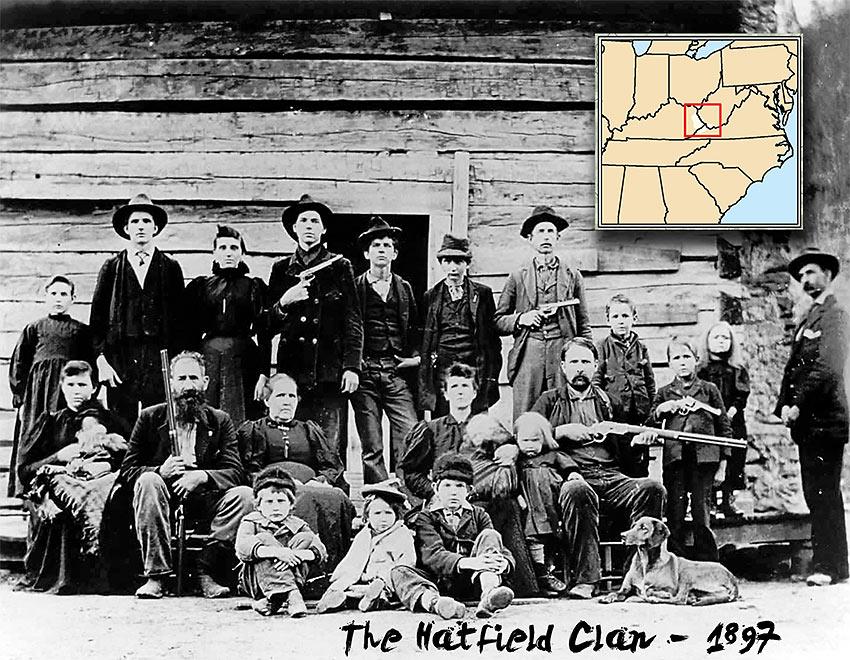 the Hatfield clan, 1897