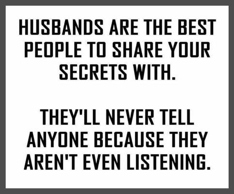 Parting Shot: Husbands and Secrets