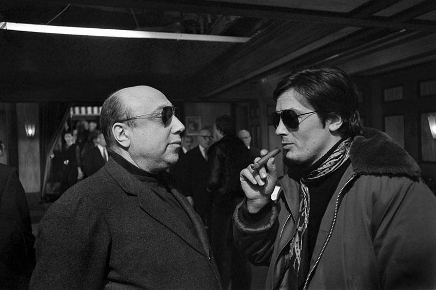 Jean Pierre Melville and Alain Delon