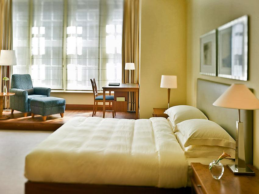 guest room at the Park Hyatt Hotel Hamburg