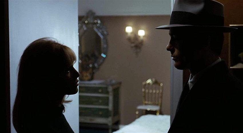 Alain Delon and Nathalie Delon in a scene from Le samouraï