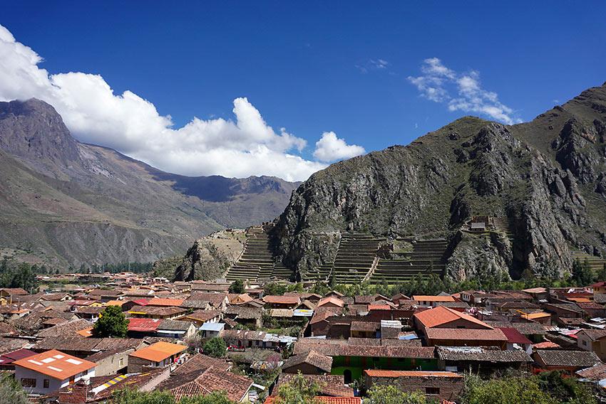 Ollantaytambo town and its Incan ruins