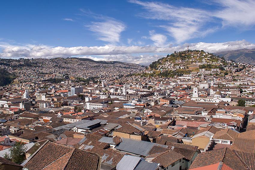 view of Quito, Ecuador