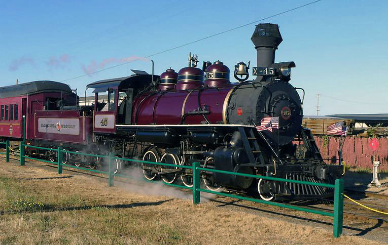 the Skunk Train - another California vacation idea