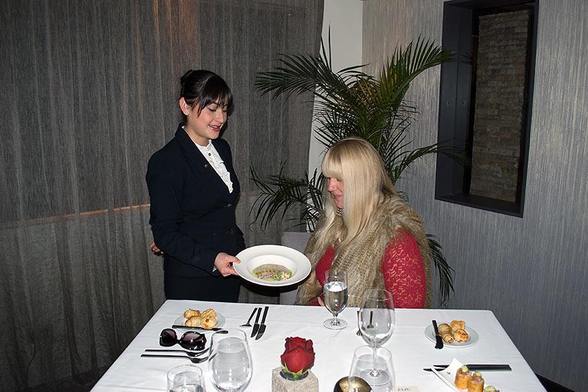 dining at Zasu restaurant, Quito, Ecuador