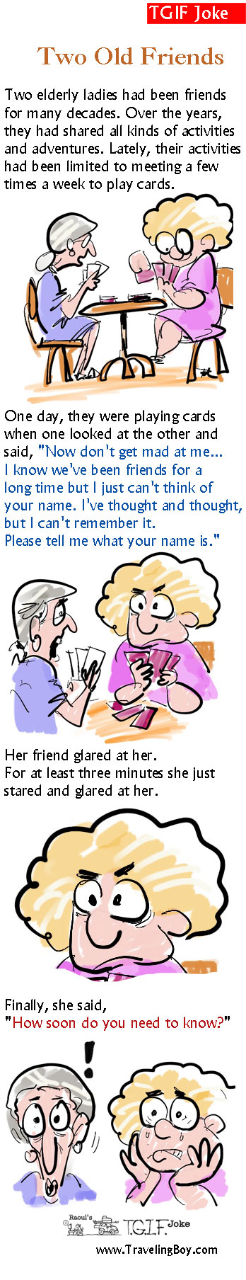 Two Old Friends cartoon