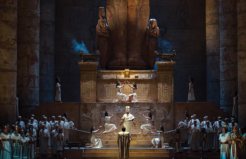 a scene from Verdi's 'Aida'