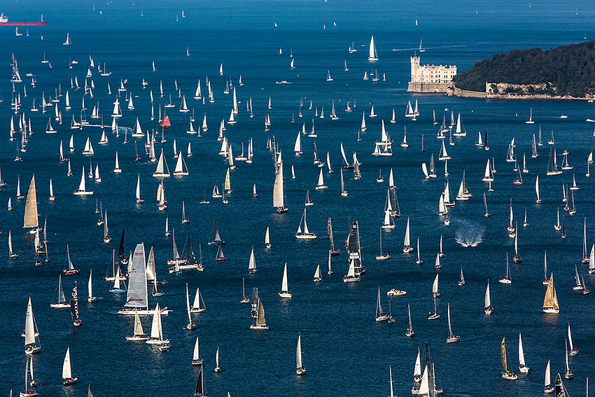 the city of Barcolana, the most crowded regatta of the world