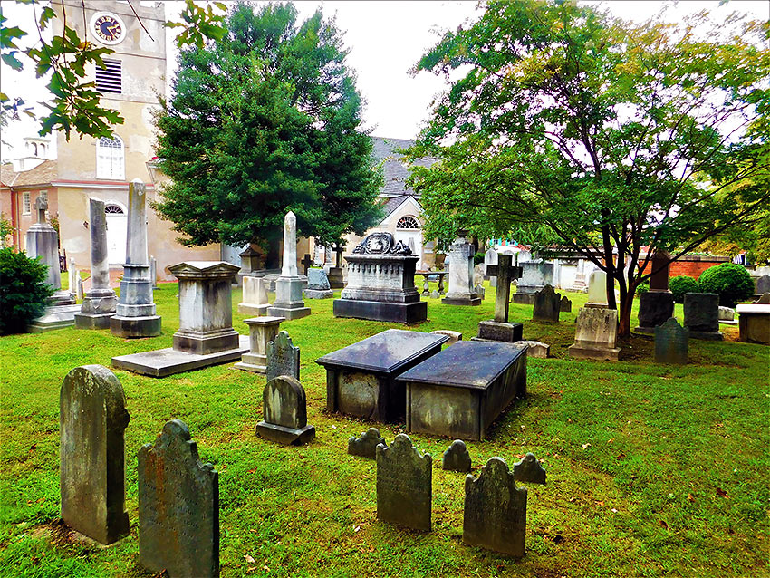 the cemetery at the Immanual Episcopal Church