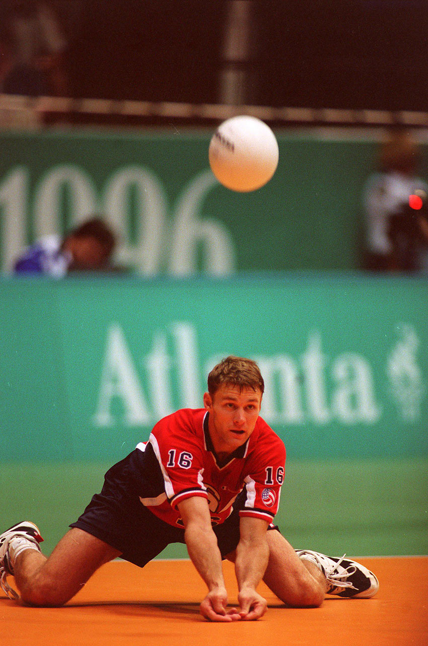 Dan Landry at the Atlanta Olympics, 1996