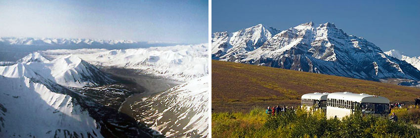 two views of Denali National Park