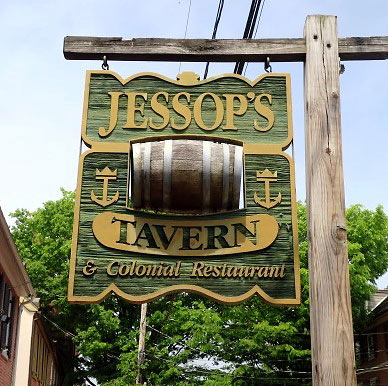 Jessop's Tavern and Colonial Restaurant sign