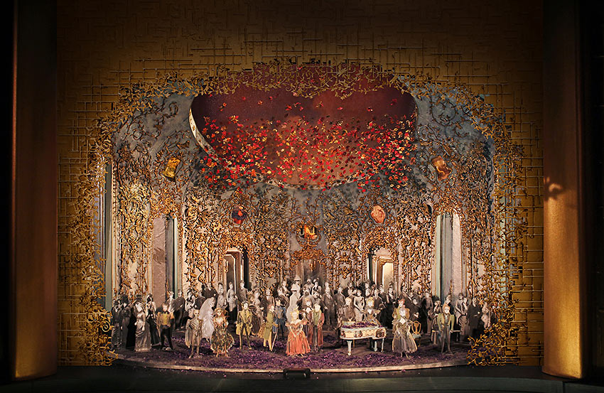 Christine Jones' set model for Act II, Scene 2 of Michael Mayer's new production of Verdi's 'La Traviata'