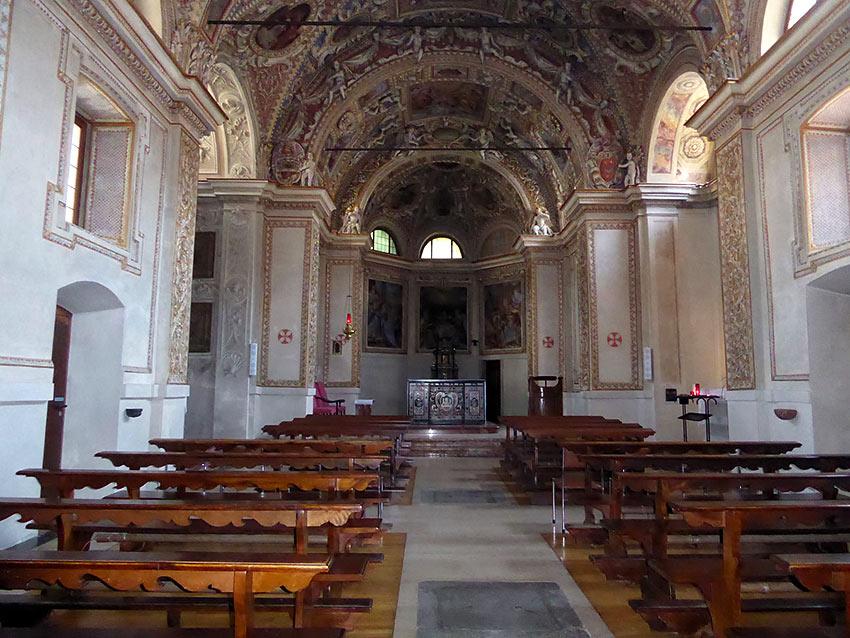 interior of the Madonna del Sasso church