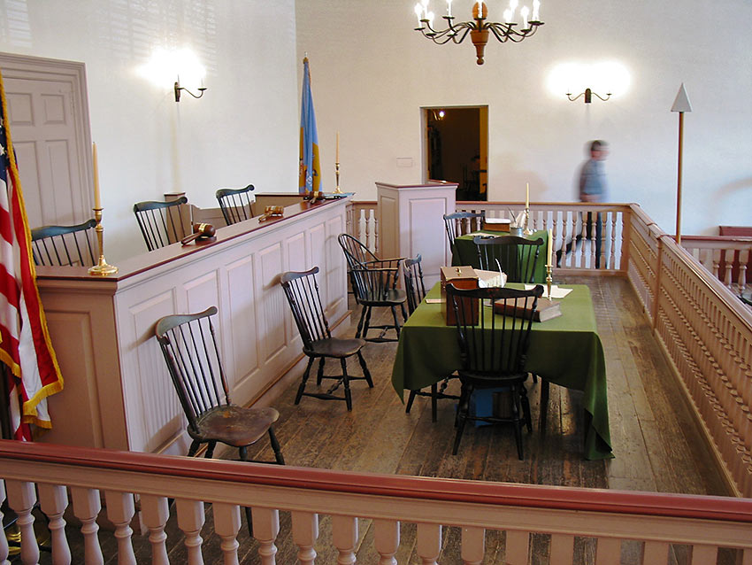 New Castle Courthouse interior
