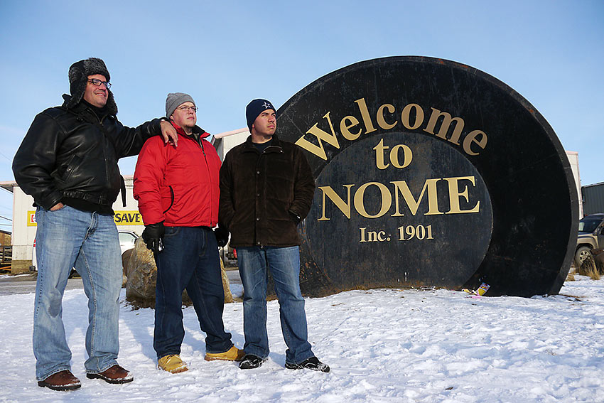 welcome sign to the historical buildings in Nome