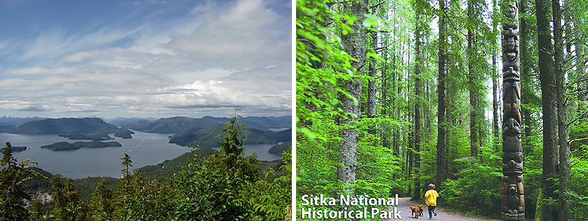 the Sitka Sound and Sitka National Historical Park