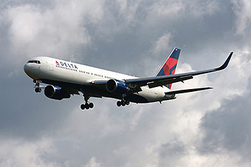 Delta airline taking off