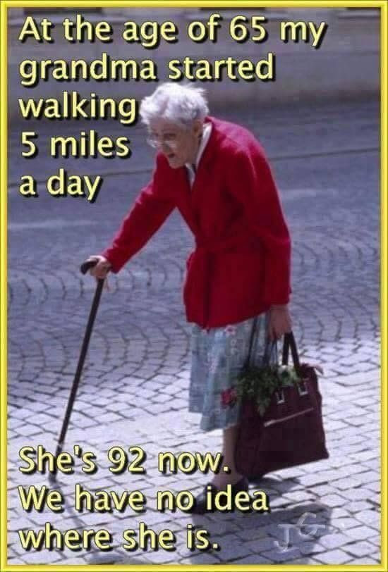 Parting Shot: Grandma's 5 Miles a Day