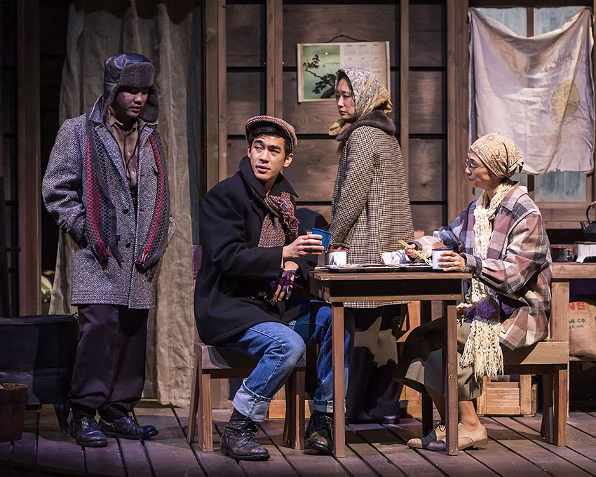 internment camp scene from the play 'Valley of the Heart'