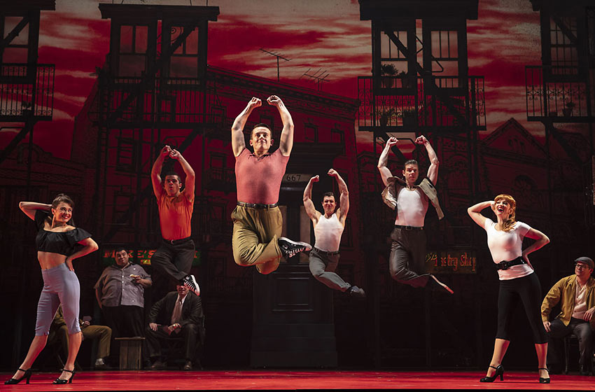 "the Italian gang in the ""Belmont Avenue"" production number"
