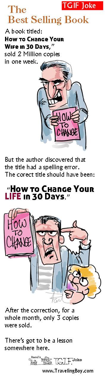 Joke of the Week: Best Selling Book