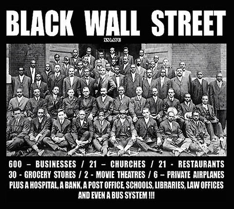 the Greenwood District was an affluent African-American community, nationally known as the Black Wall Street