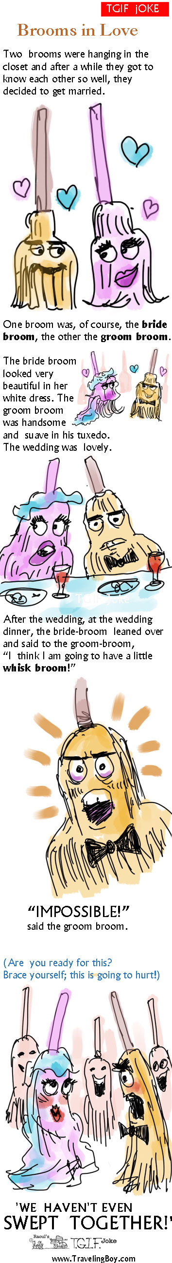 TGIF Joke of the Week: Brooms in Love