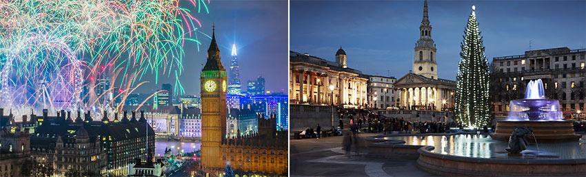 London Christmas scenes