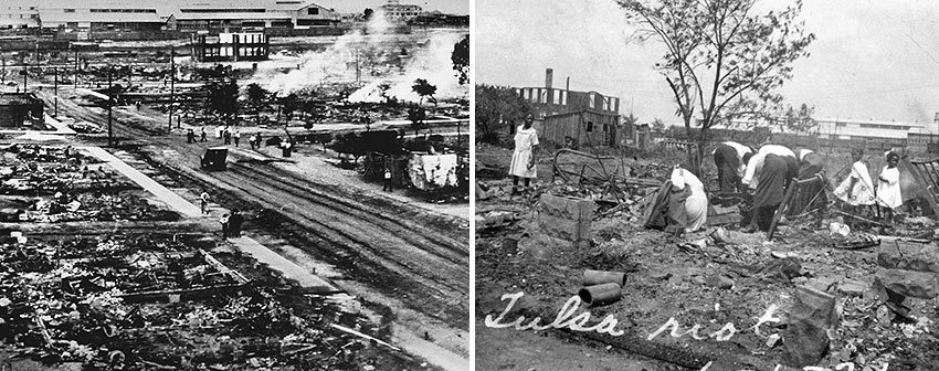 aftermath of the 1921 Tulsa race riot
