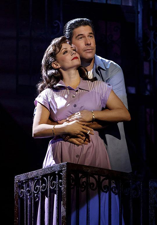 Calogero's loving parents Rosina (Michelle Aravena) and Lorenzo ((Richard H. Blake)