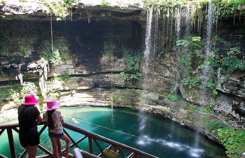 sacred sinkhole or cenote at Hacienda Selva Maya