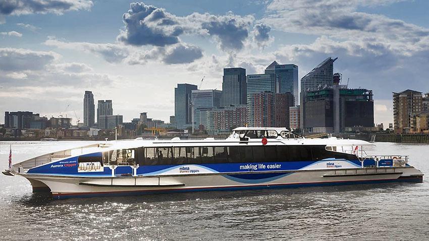 Thames Clippers catamaran