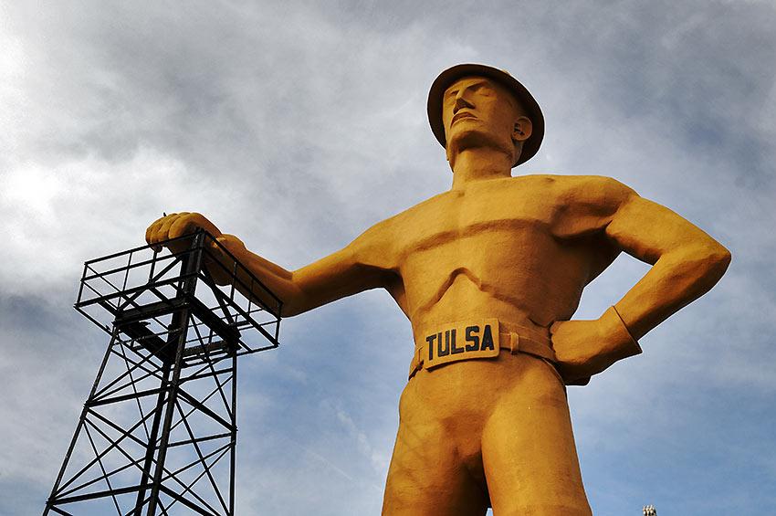 The Golden Driller: Tulsa's giant oil man