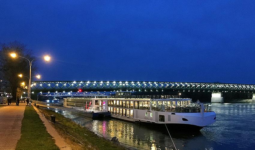 the Viking River Cruises ship Vili at Bratislava, Slovakia