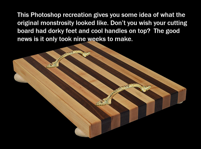 Photoshop recreation of Ed Landry's first cutting board
