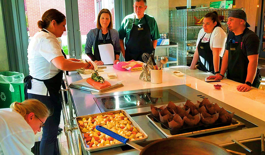 cooking class at the Four Seasons Hotel Westlake Village